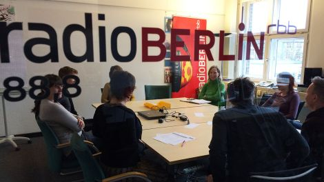 Blick in die radioBERLIN-Redaktion (Foto: radioberlin / Tatiana Brasching)
