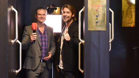 Paternoster-Interview: David Garrett und Ingo Hoppe; Foto: radioBERLIN/Peter Rauh