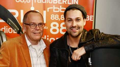 Jürgen Jürgens (links) und David Garrett im radioBERLIN Studio