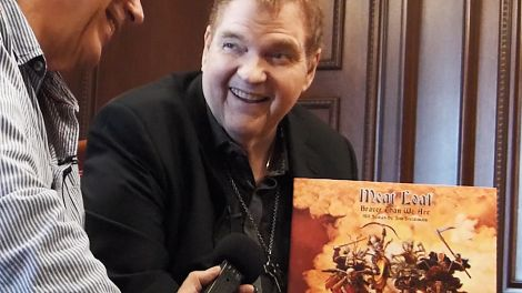 Meat Loaf im Interview mit Jürgen Jürgens; Foto: radioBERLIN 88,8