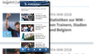 Sportschau App; Screenshot radioBerlin